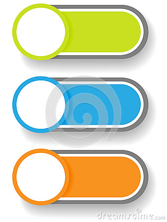 Set 1 of circle and cylinder labels