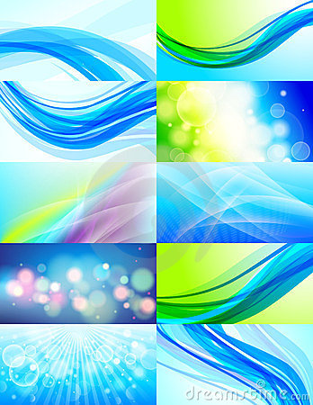 Set of 10 abstract  backgrounds