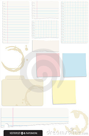 Set of 10 Note Paper Vectors