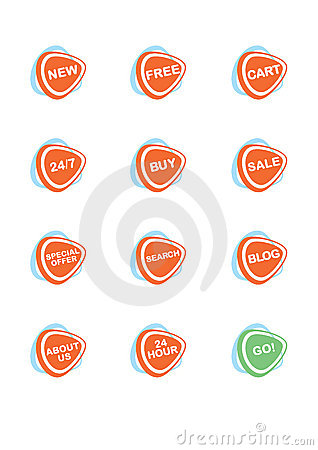 Set of 12 vector online shopping icons