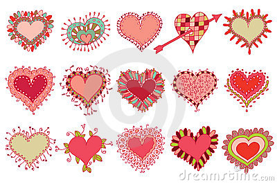 Set of 15 hearts