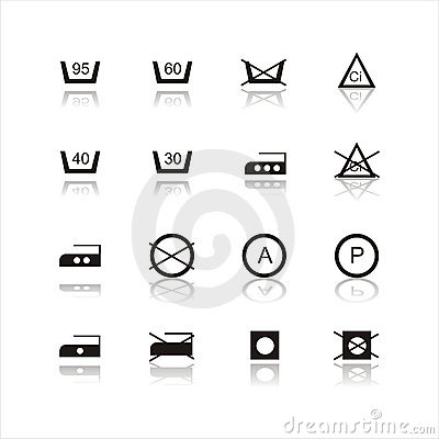 Set of 16 laundry signs