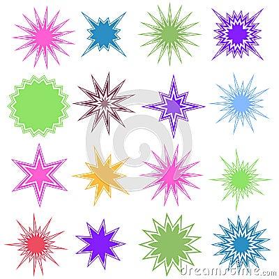 Set of 16 Starburst Shapes
