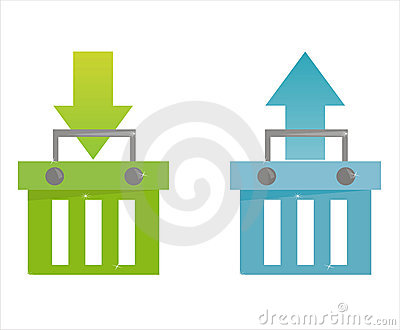 Set of 2 baskets icons
