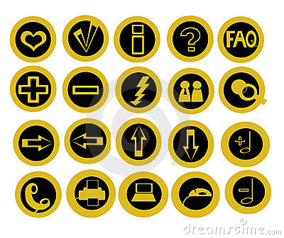 Set of 20 useful technology icons