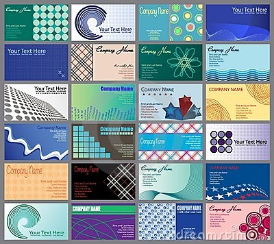 Set of 24 Business Cards Desig