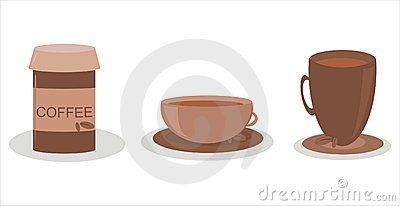 Set of 3 coffee icons