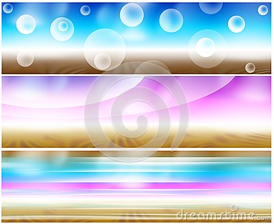 Set 3 psychedelic banners