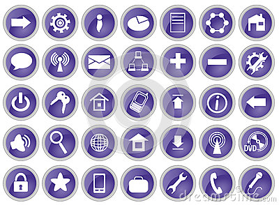 Set of 35 computer icons