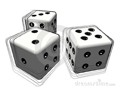 Set of 3d dice or die