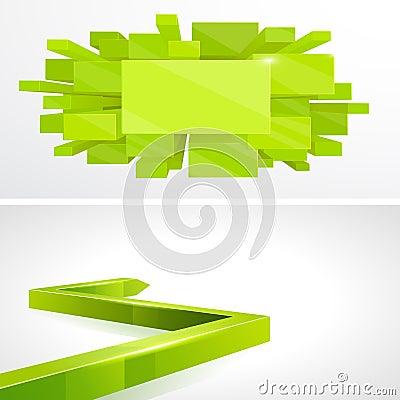Set 3D Green layout design
