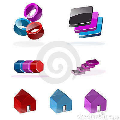 Set of 3d icons