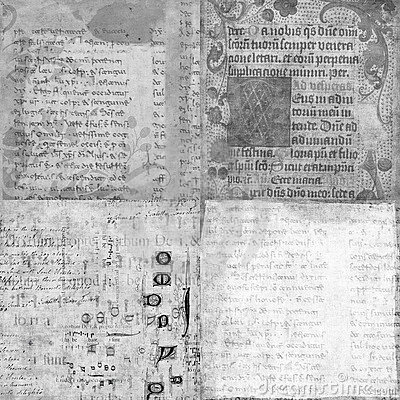 Set of 4 antique vintage manuscript textures
