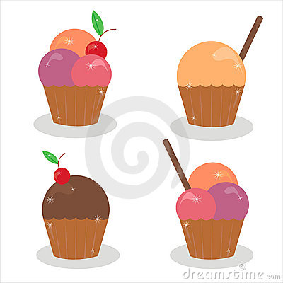 Set of 4 cakes icons