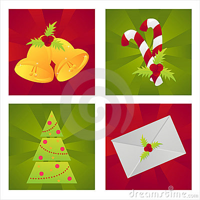Set of 4 christmas backgrounds