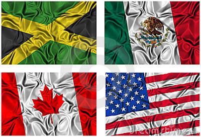 Set of 4 flags
