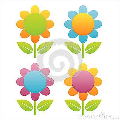 Set of 4 flowers