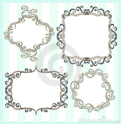 Set of 4 frames