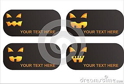 Set of 4  halloween banners