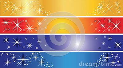 Set of 4 holiday banners