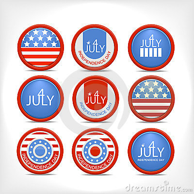 Set 4 july  badge.