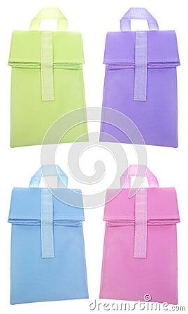 Set of 4 Reusable Lunch Bag Sacks