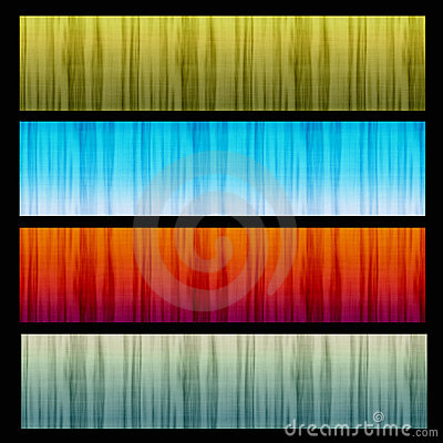 Set of 4 Texture Banners