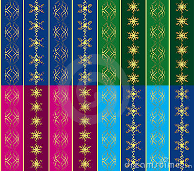 Set of 4 vector seamless christmas textures