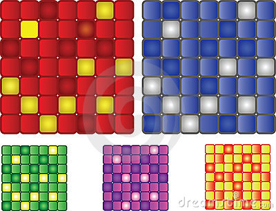 Set of 5 vector squares patter