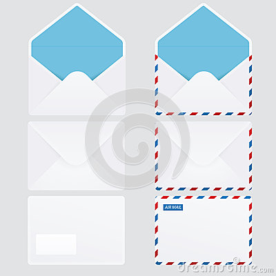 Set of 6 glossy envelopes