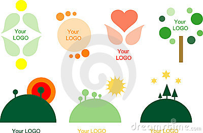 Set of 7 logo design elements