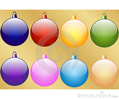 Set of 8 Christmas Baubles