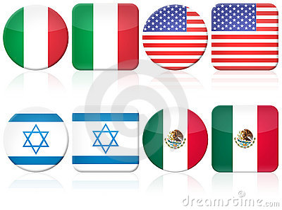 Set of 8 flag