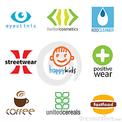 Set of 9 brand designs