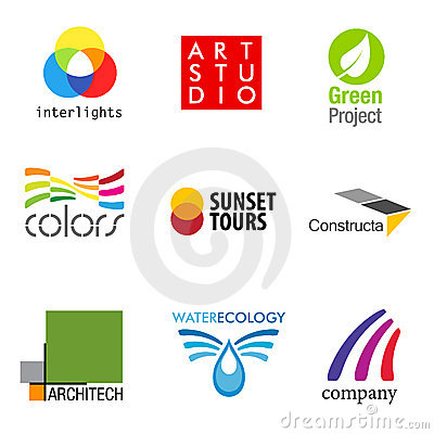 Set of 9 brand designs