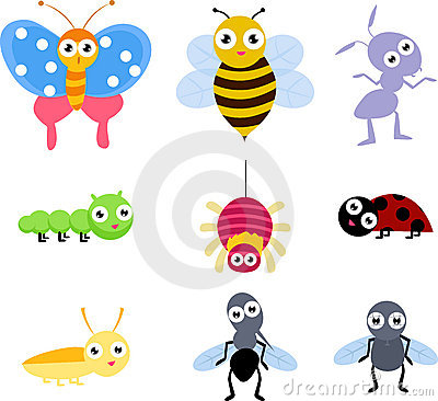 A set of 9 common insect icon