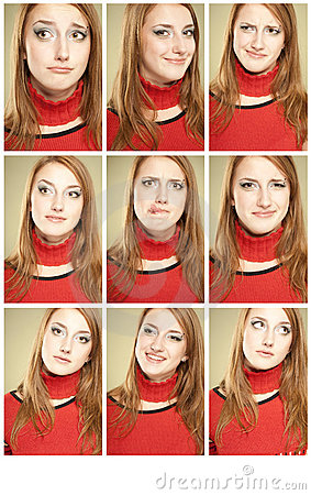 Set of 9 funny faces