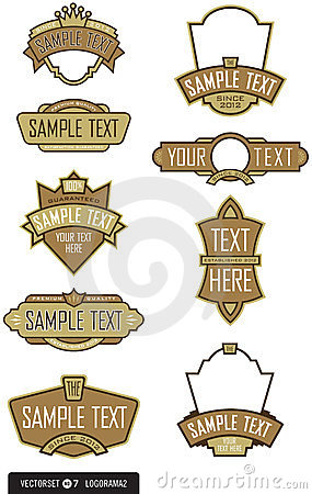 Set of 9 Logo/Label Vectors