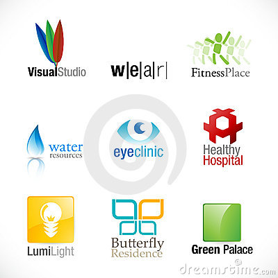Set of 9 new logotypes