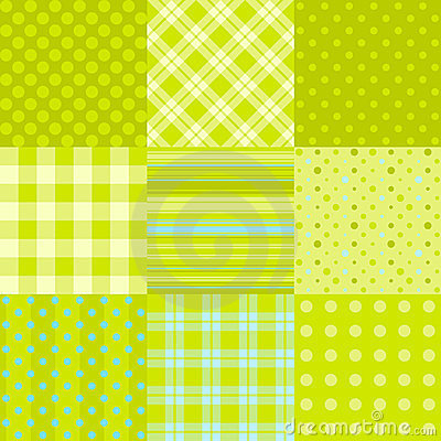 Set of 9 simple seamless textures