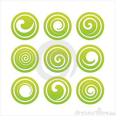 Set Of 9 Swirl Signs Royalty Free Stock Photos - Image: 14240728