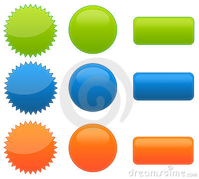 Set of 9 Web 2.0 Glossy Buttons