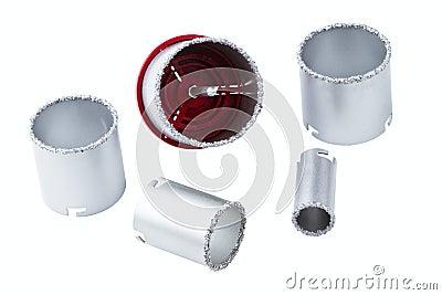 Set abschleifende Ringe
