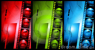 Set of abstract background in film