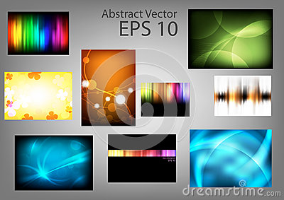 Set abstract  backgrounds
