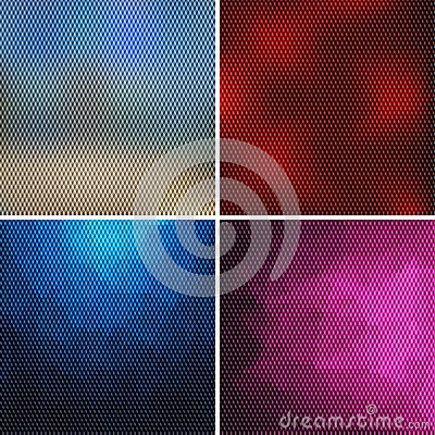 Set of abstract backgrounds consisting of small cubes