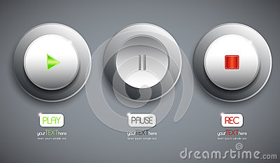 Set of 3 abstract buttons / icons
