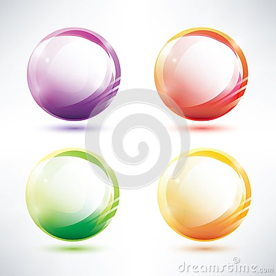 Set of abstract glosy circles