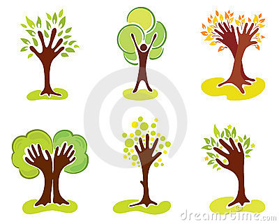 A set of abstract hand-trees