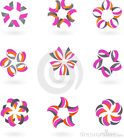 Set of abstract icons and logos #2 -  design
